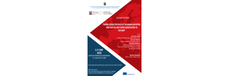 "Zaproszenie na debatę pt. ""Political and social polarisation in Europe: How to strengthen cohesion in European societies"""